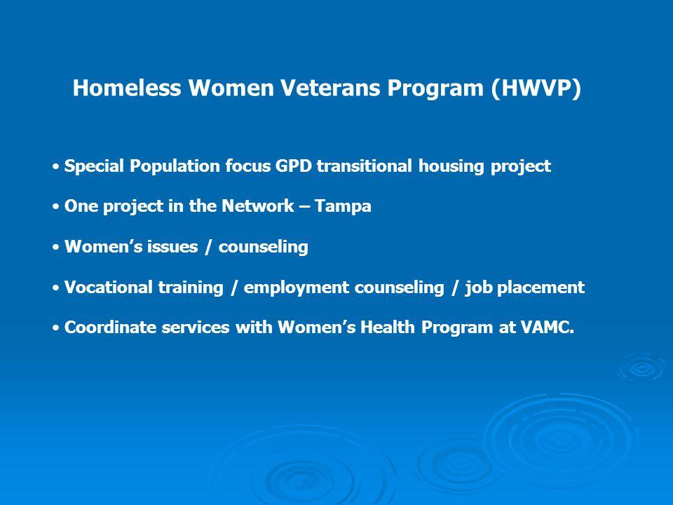 Homeless Women Veterans Program (HWVP)