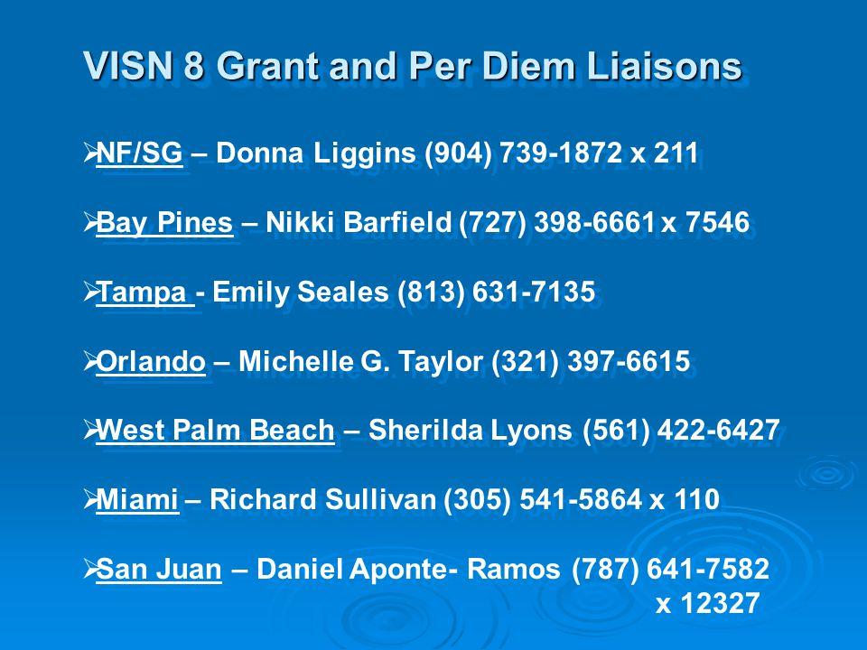 VISN 8 Grant and Per Diem Liaisons