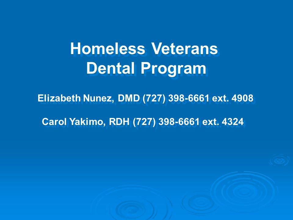 Homeless Veterans Dental Program