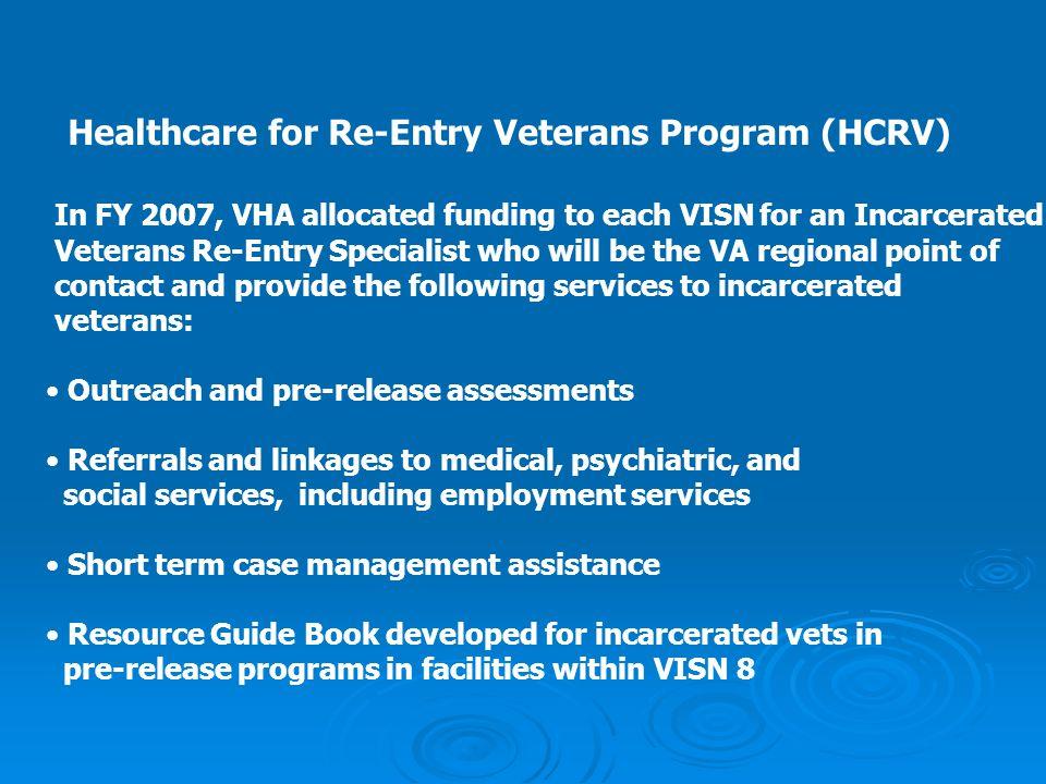 Healthcare for Re-Entry Veterans Program (HCRV)