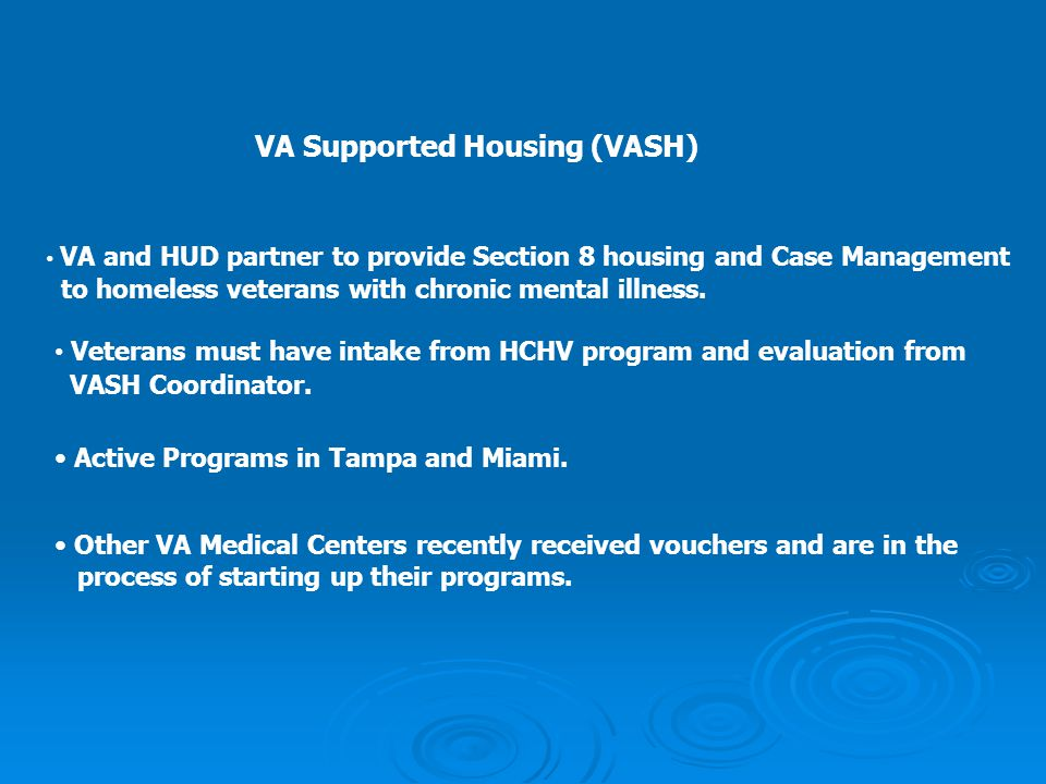 VA Supported Housing (VASH)