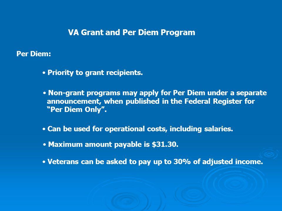VA Grant and Per Diem Program