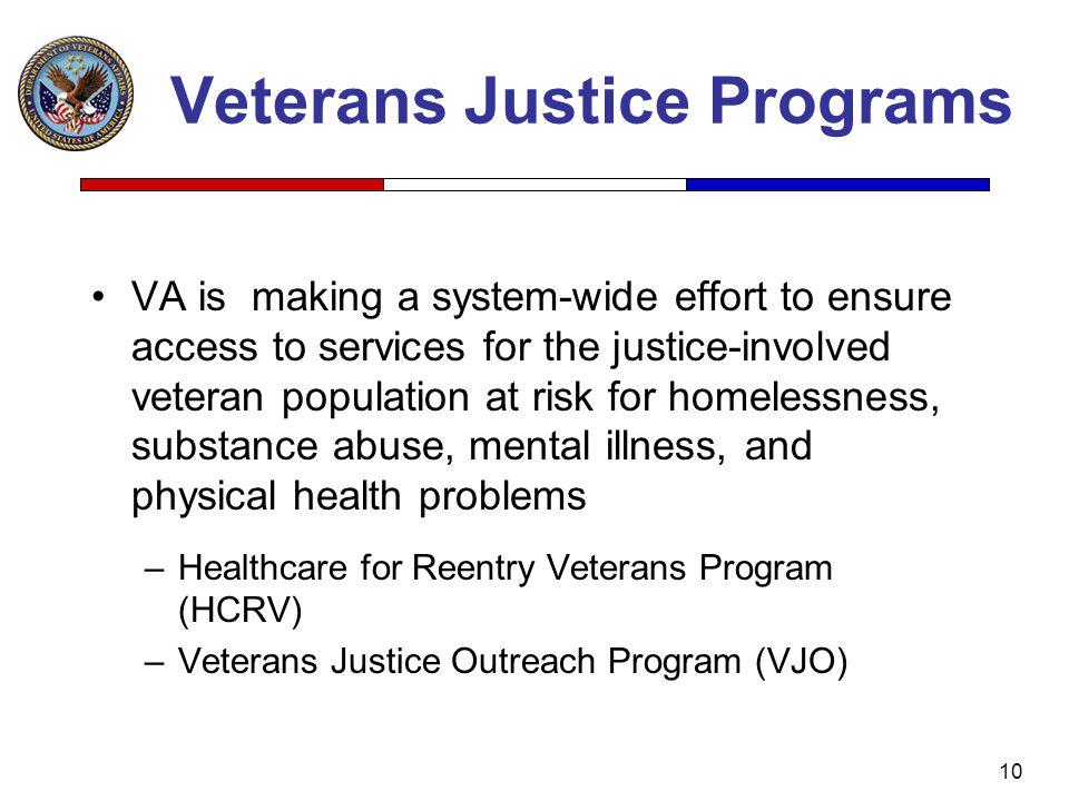 Veterans Justice Programs