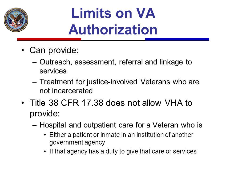Limits on VA Authorization