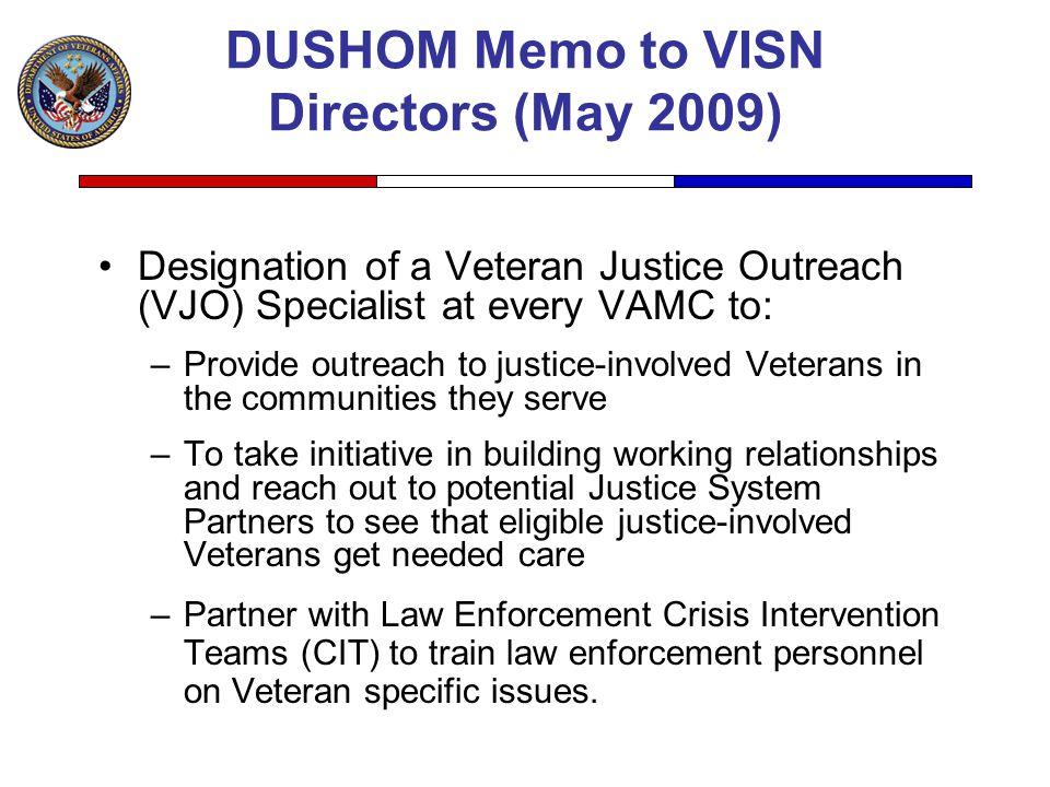 DUSHOM Memo to VISN Directors (May 2009)