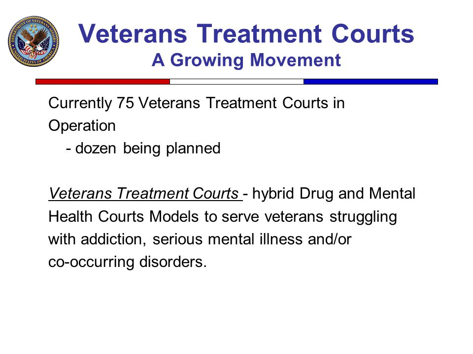 Veterans Treatment Courts A Growing Movement