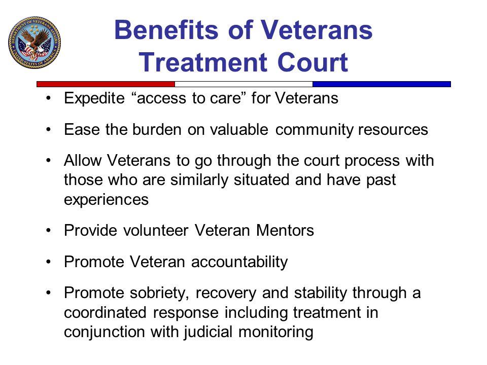 Benefits of Veterans Treatment Court