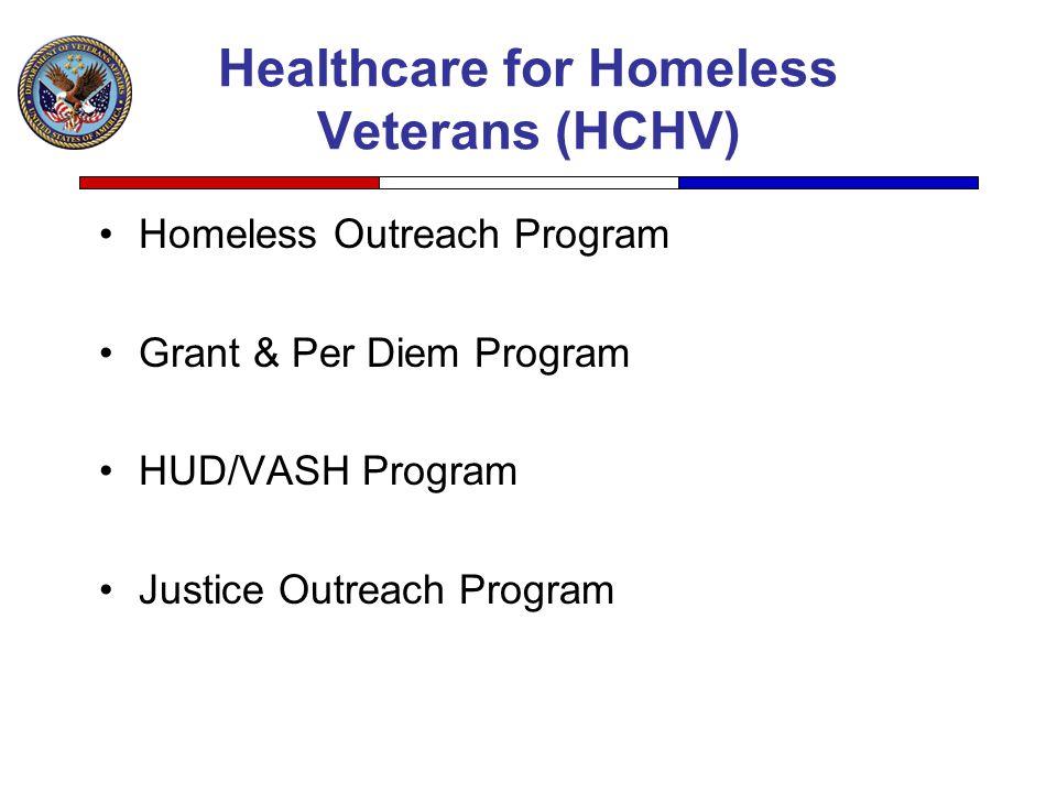 Healthcare for Homeless Veterans (HCHV)