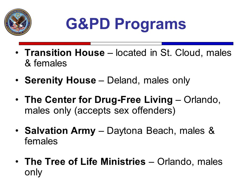 G&PD Programs Transition House – located in St. Cloud, males & females