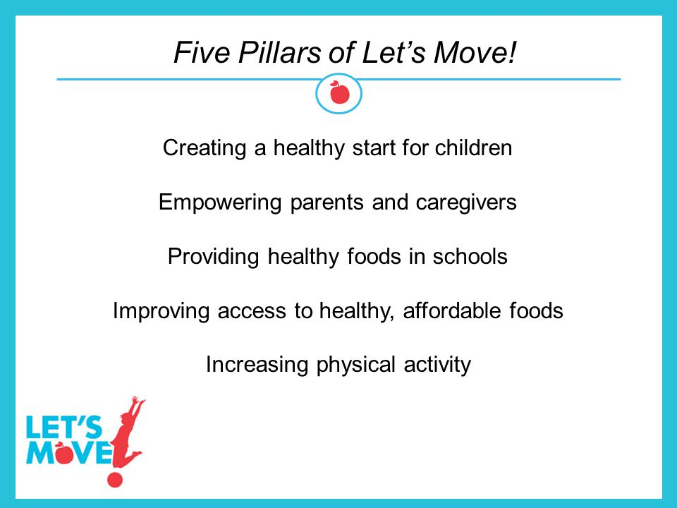 Five Pillars of Let's Move!