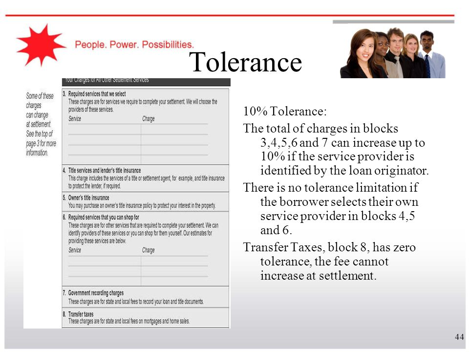 Tolerance 10% Tolerance: