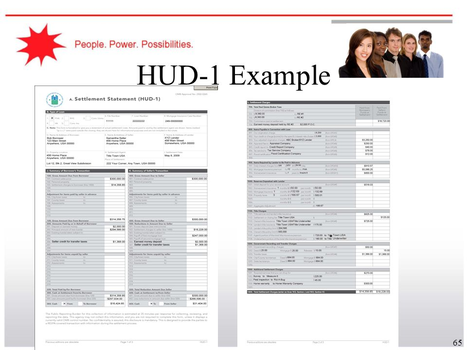 HUD-1 Example