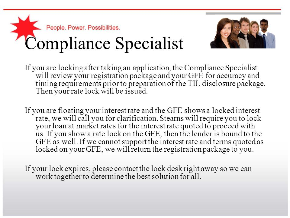 Compliance Specialist