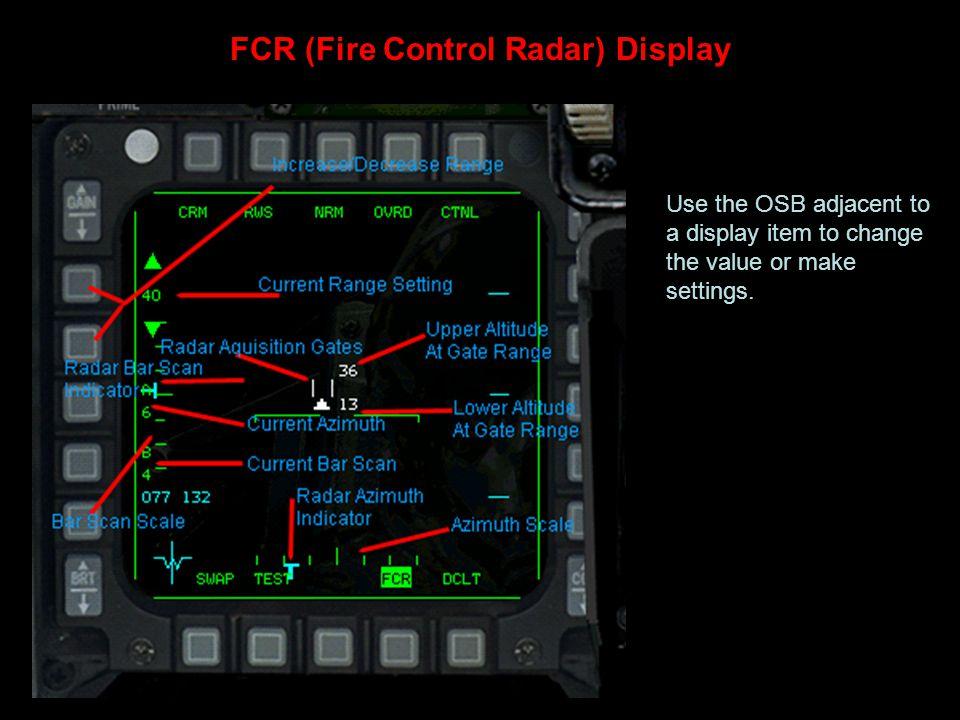 FCR (Fire Control Radar) Display