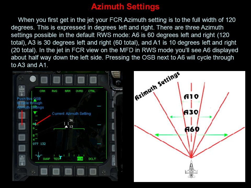 Azimuth Settings