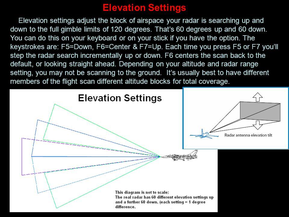 Elevation Settings