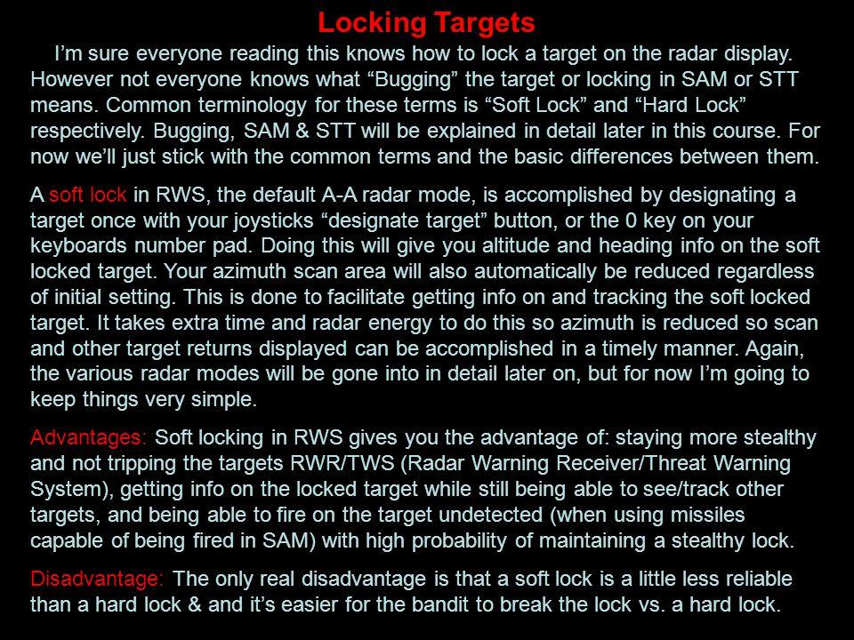 Locking Targets