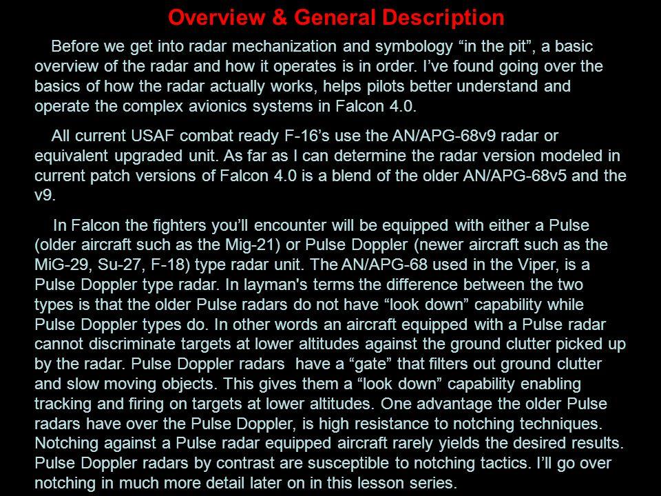 Overview & General Description