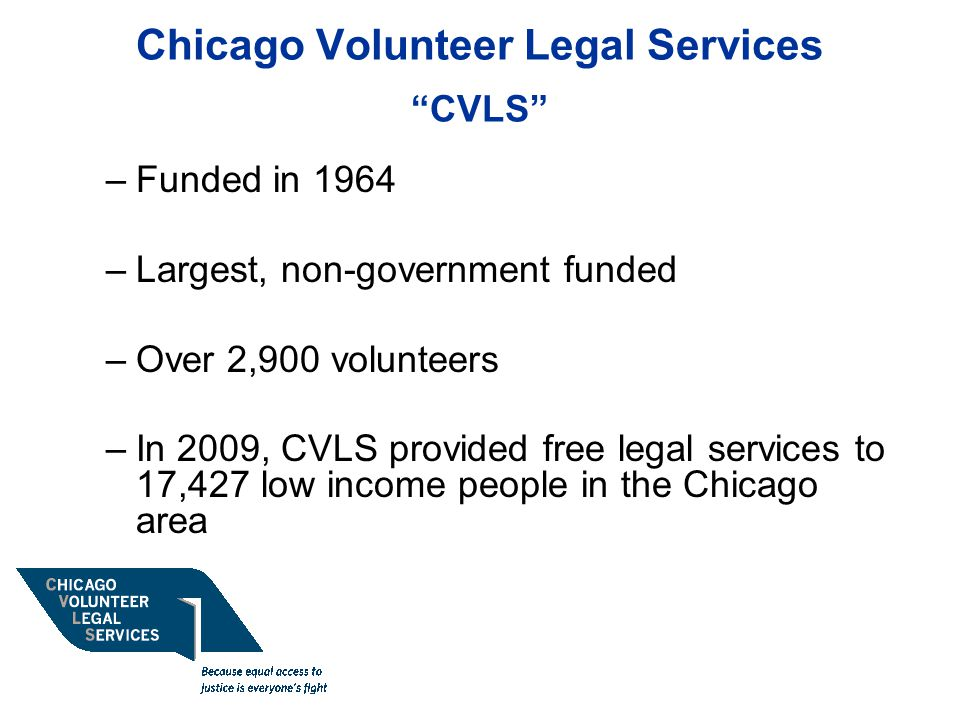 Chicago Volunteer Legal Services CVLS