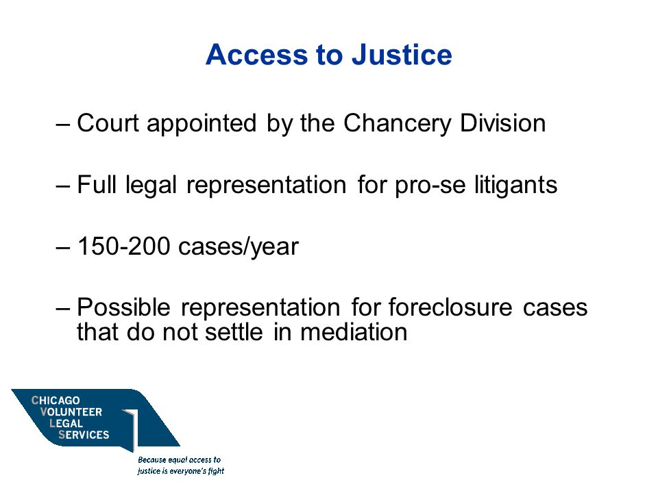 Access to Justice Court appointed by the Chancery Division