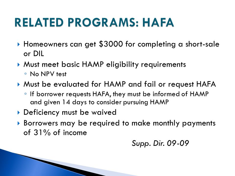 RELATED PROGRAMS: HAFA