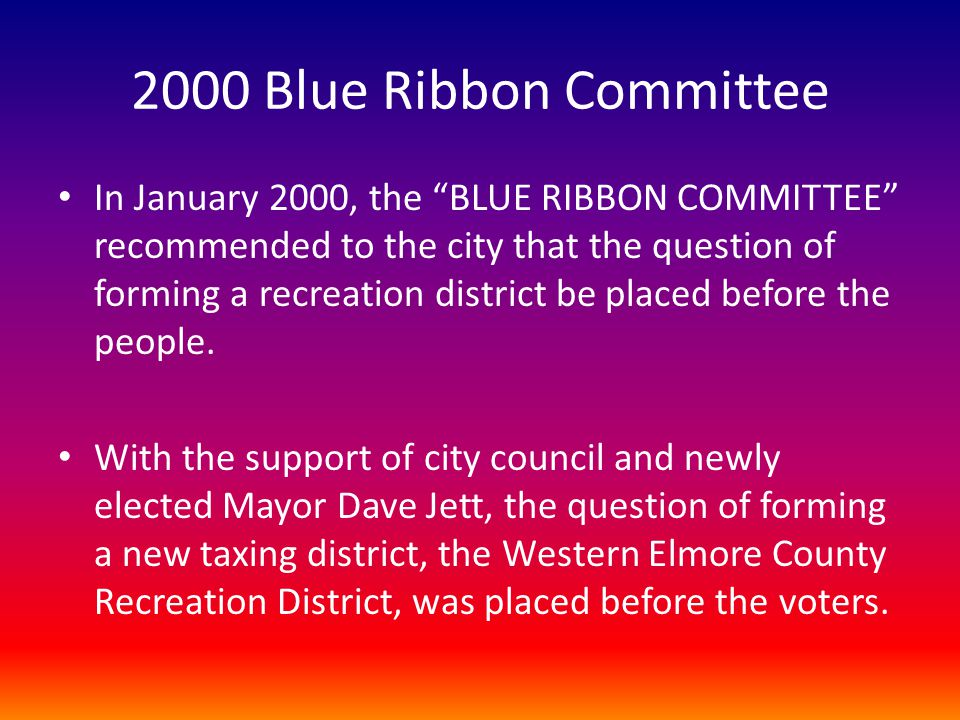 2000 Blue Ribbon Committee