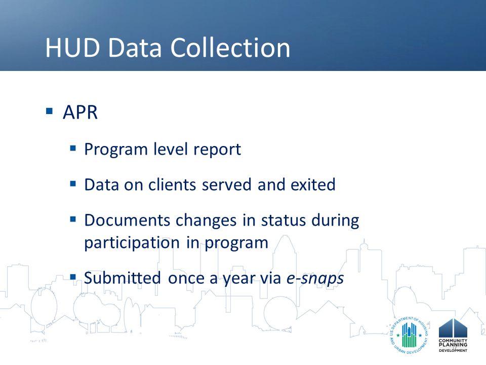 HUD Data Collection APR Program level report
