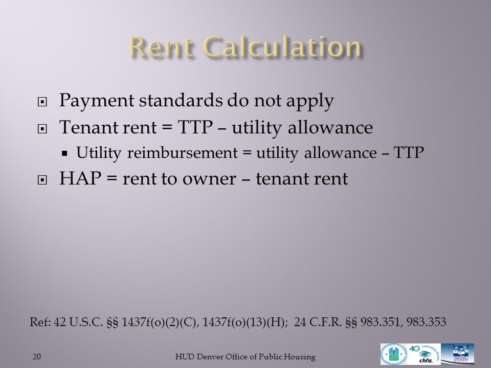 ProjectBased Vouchers ppt download – Hud Rent Calculation Worksheet