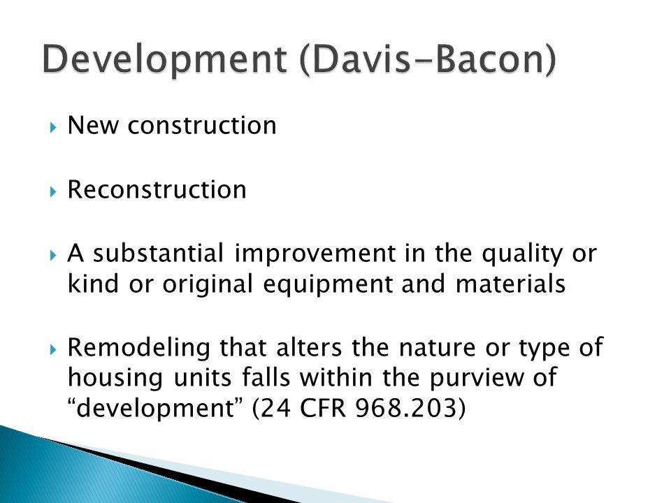 Development (Davis-Bacon)