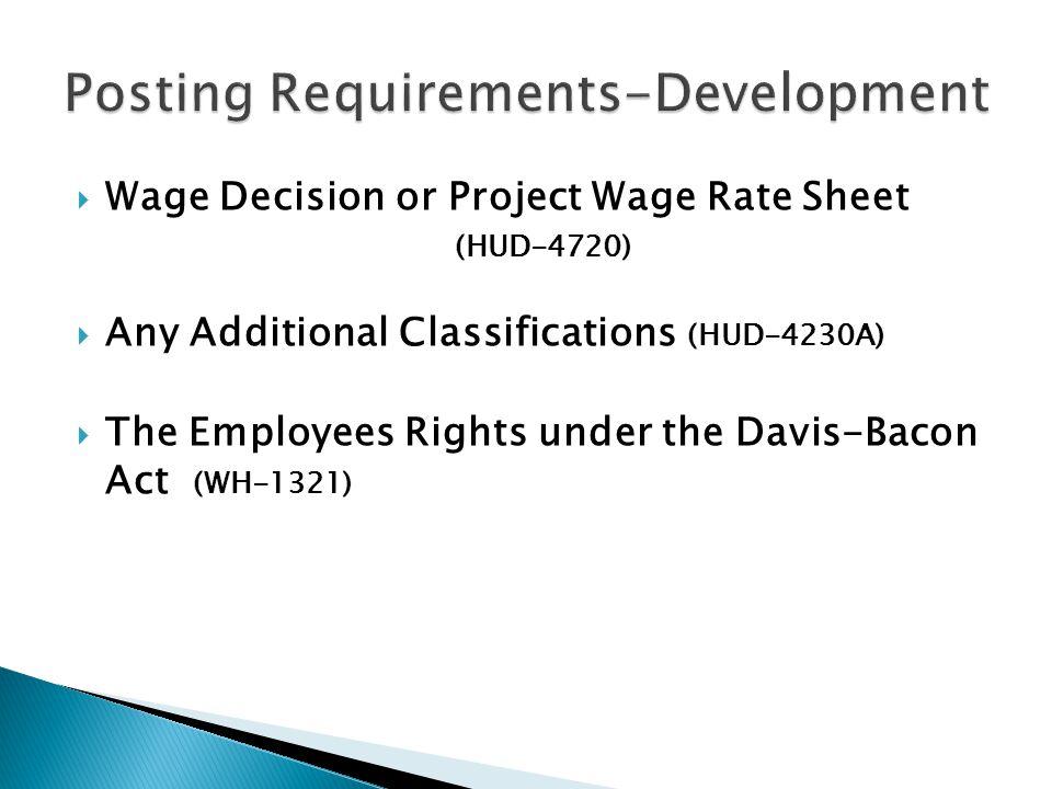 Posting Requirements-Development