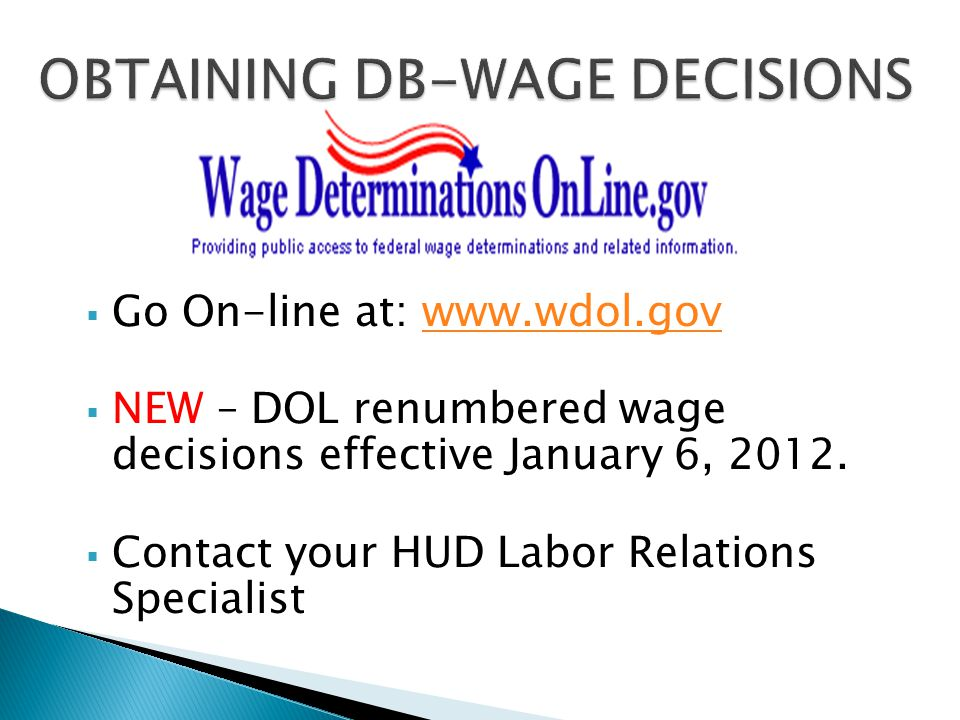 OBTAINING DB-WAGE DECISIONS