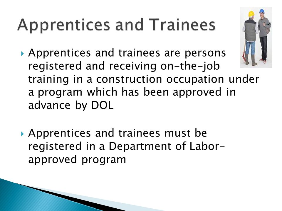 Apprentices and Trainees