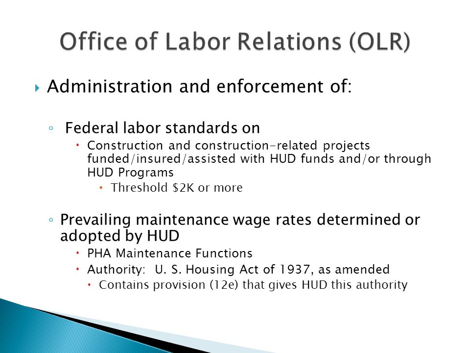 Office of Labor Relations (OLR)