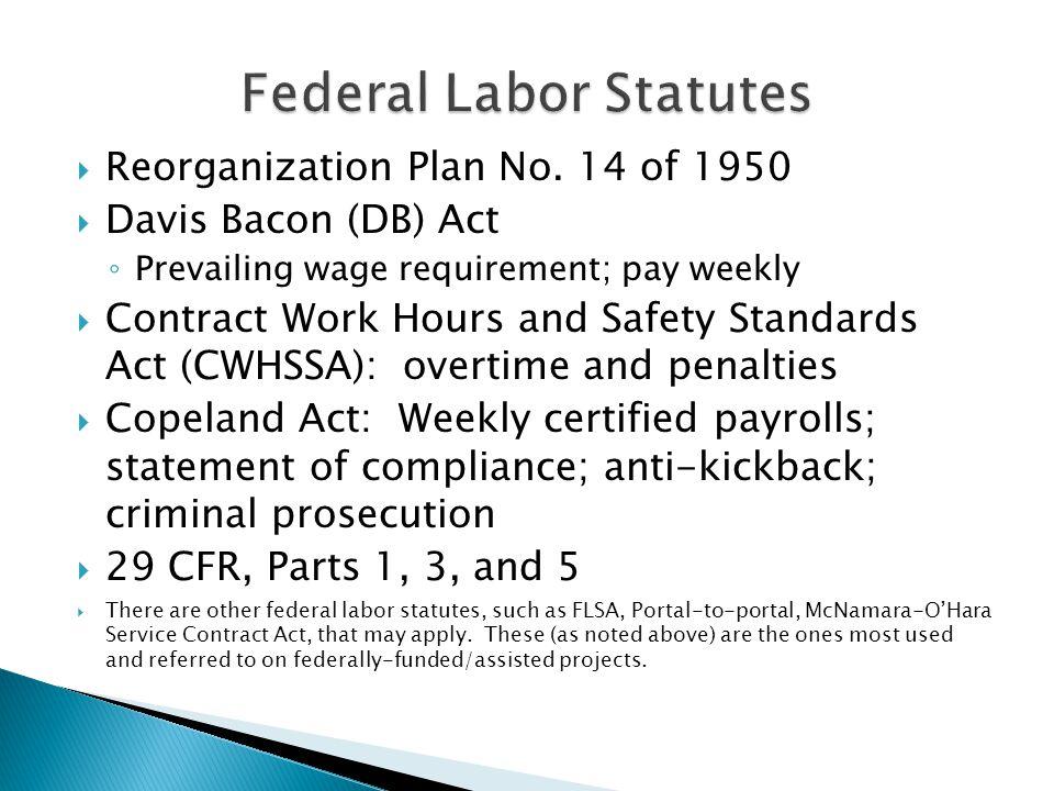 Federal Labor Statutes