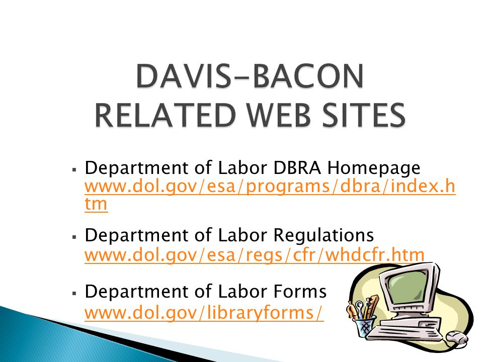 DAVIS-BACON RELATED WEB SITES