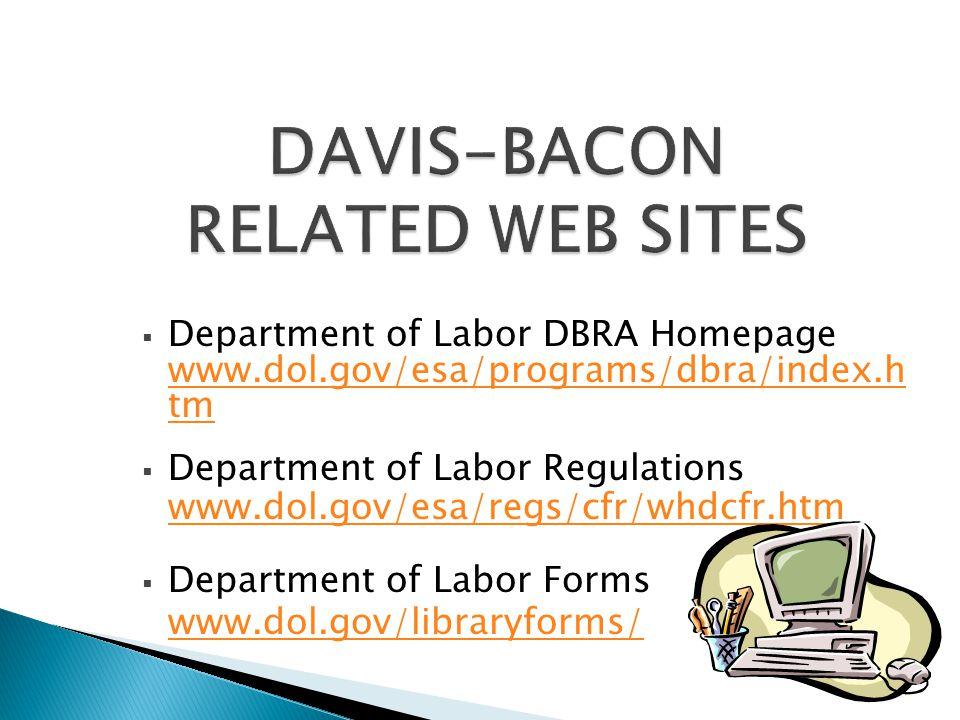 DAVIS-BACON RELATED WEB SITES