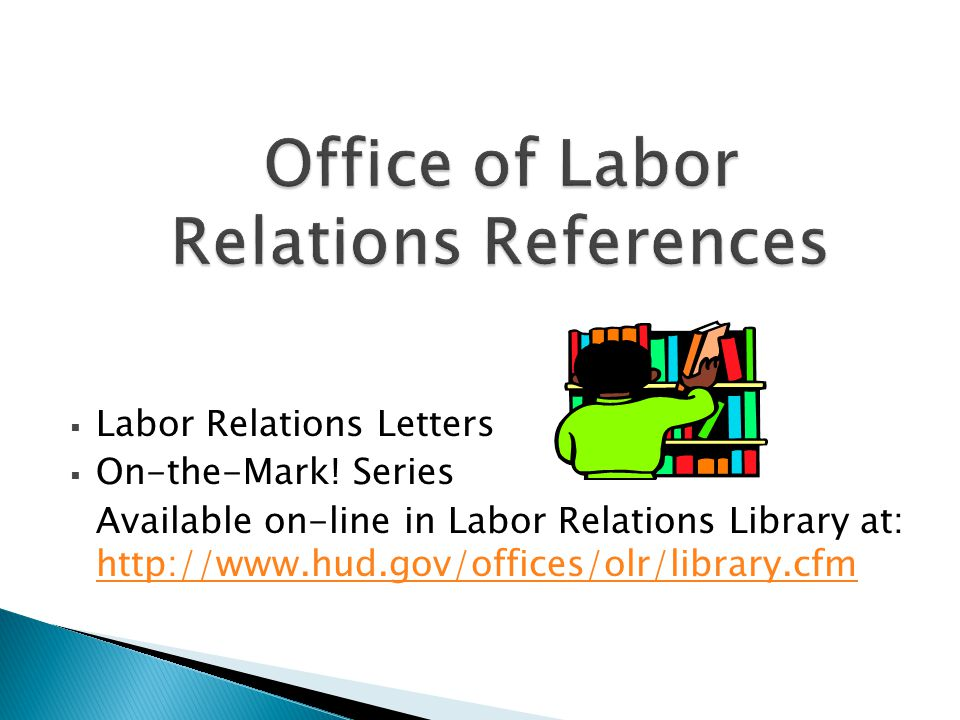 Office of Labor Relations References