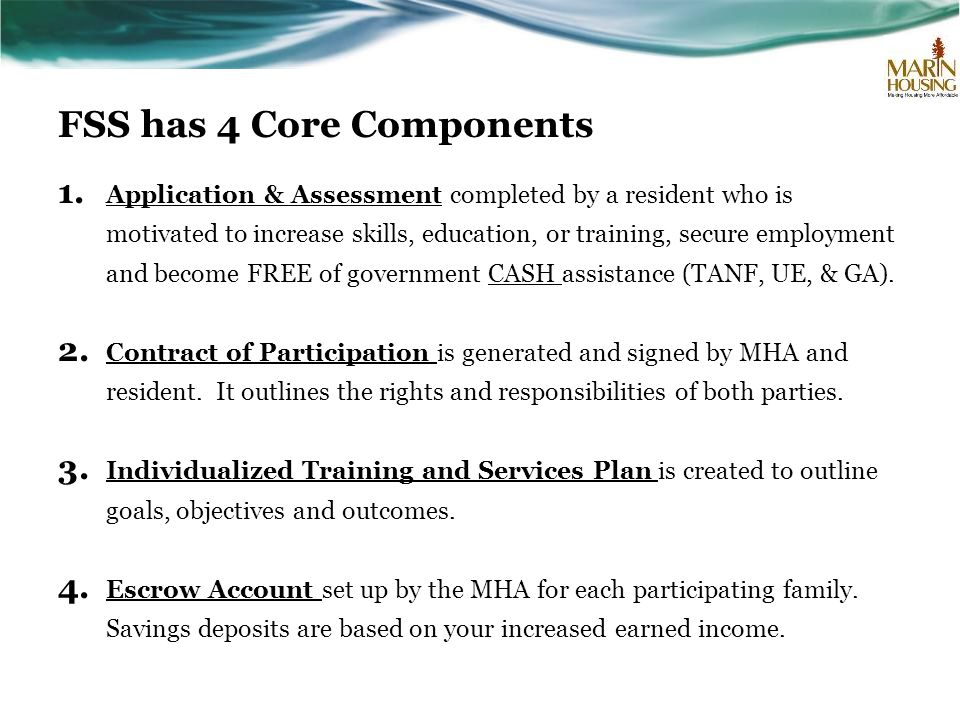 FSS has 4 Core Components