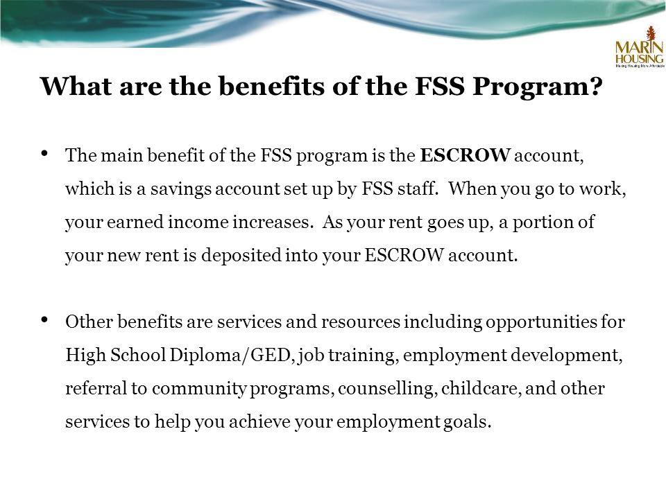 What are the benefits of the FSS Program