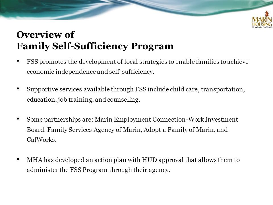 Overview of Family Self-Sufficiency Program