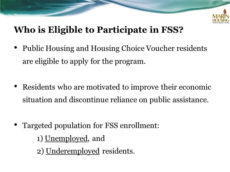 Who is Eligible to Participate in FSS