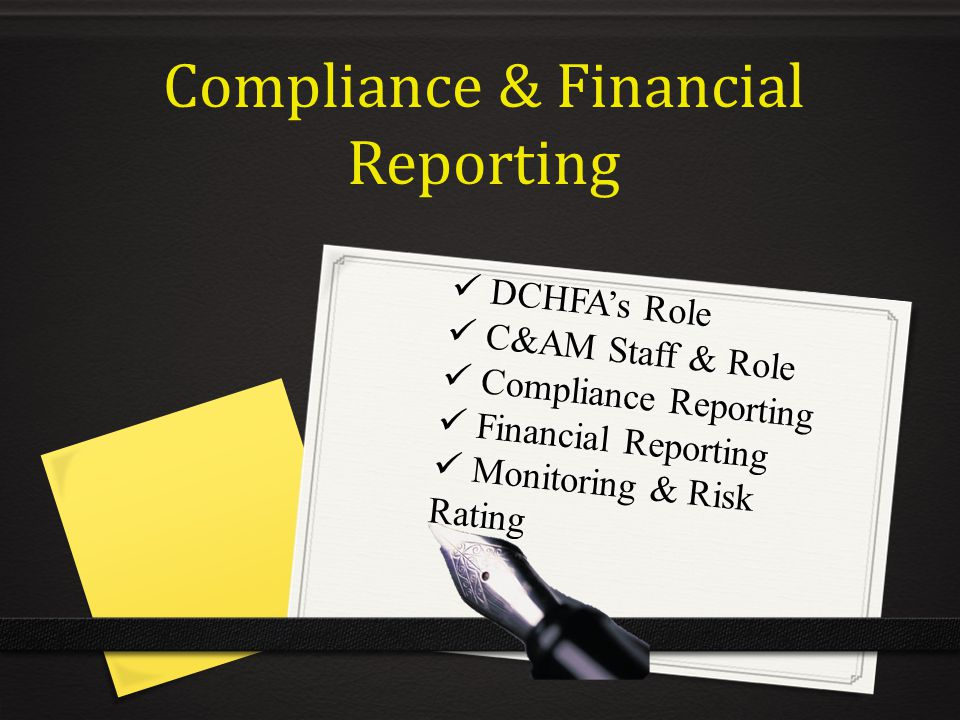 Compliance & Financial Reporting