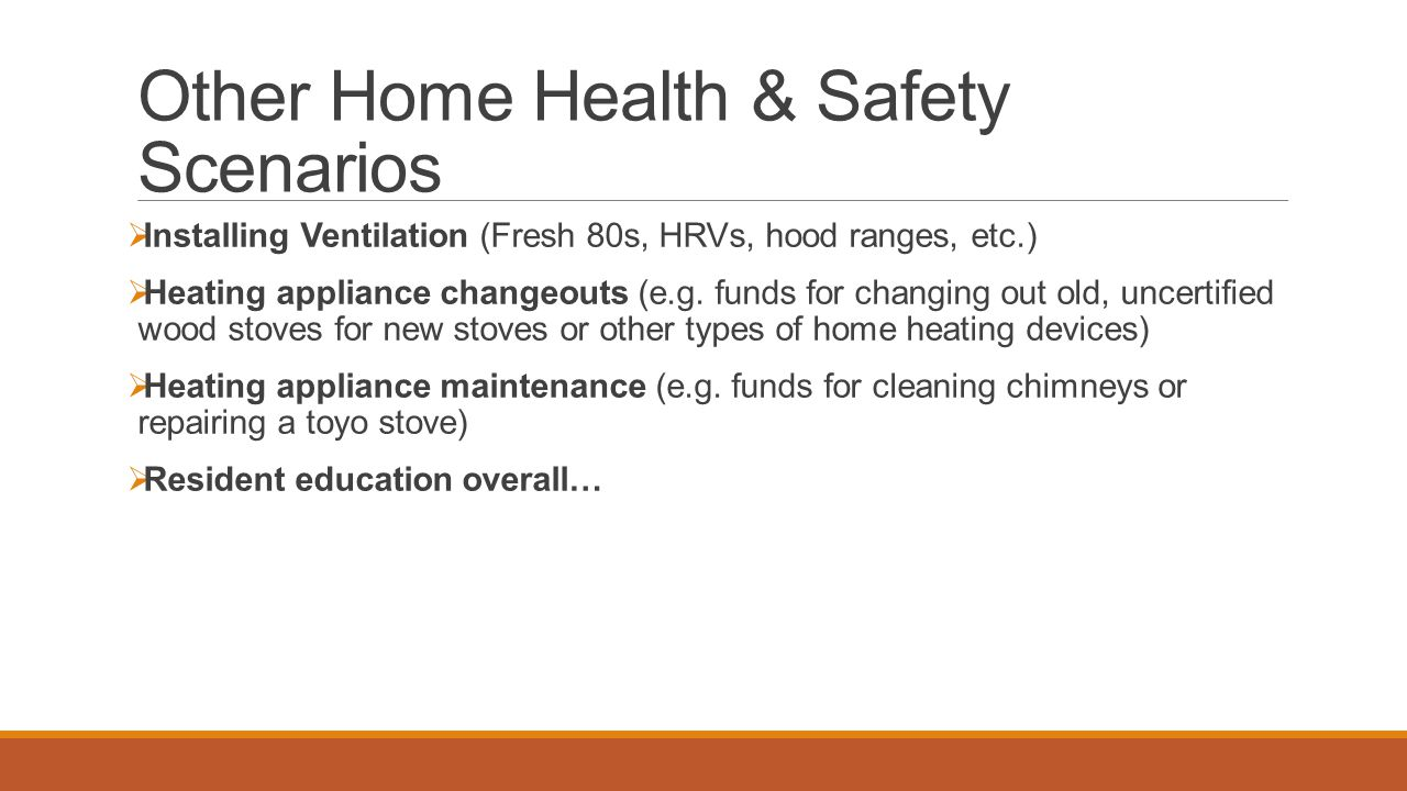 Other Home Health & Safety Scenarios