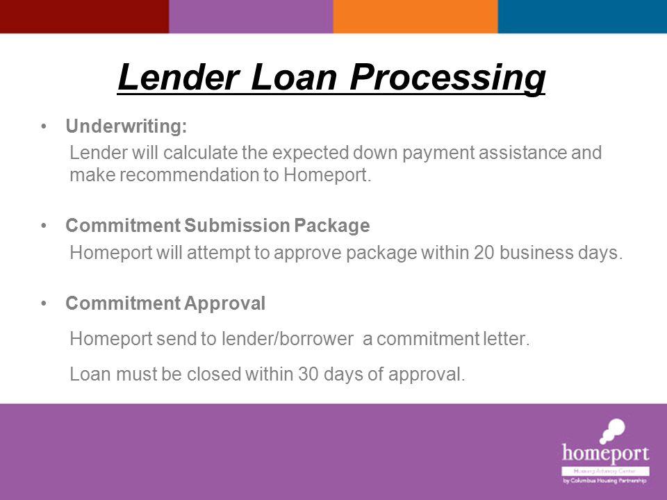 Lender Loan Processing