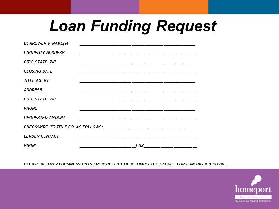 Loan Funding Request