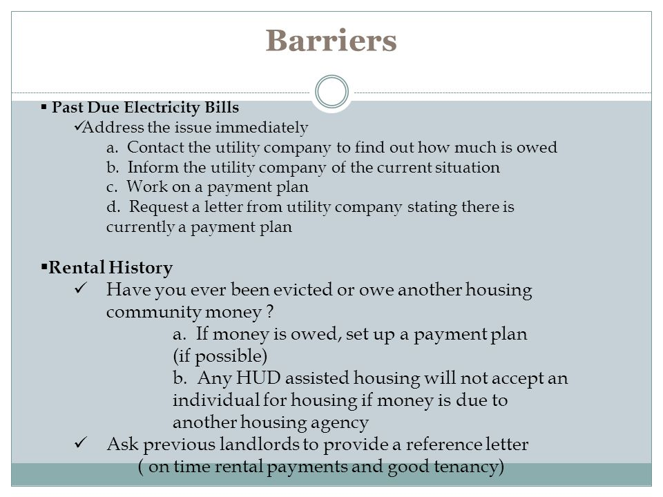 Barriers Rental History
