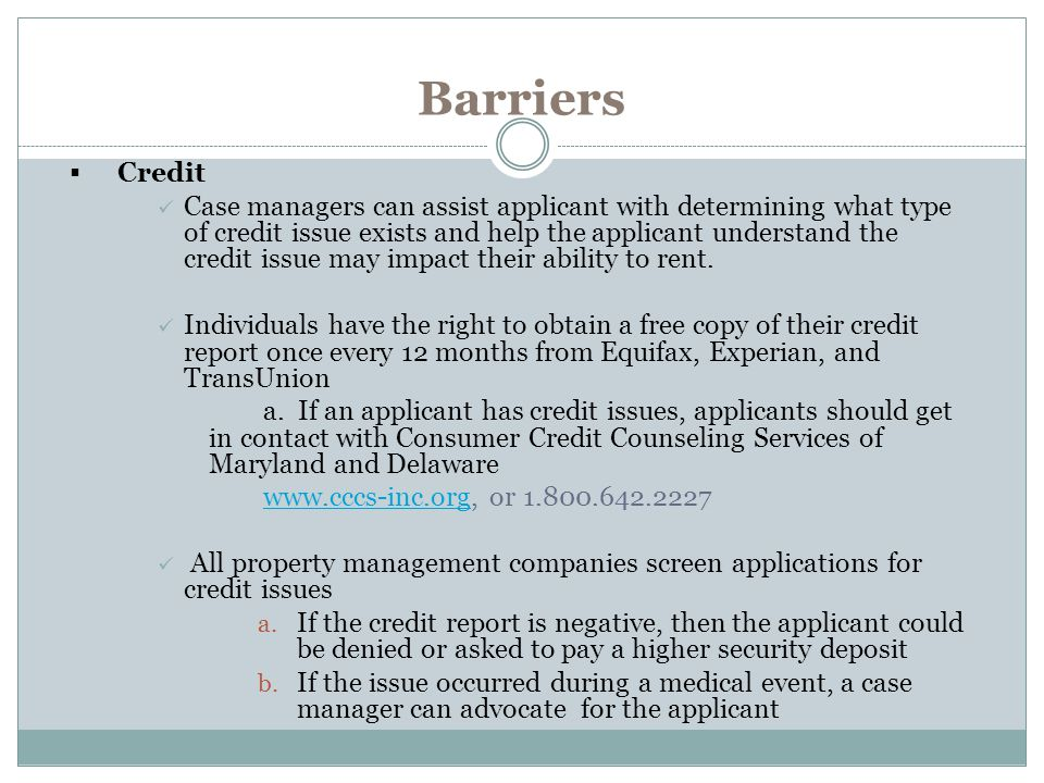 Barriers Credit.