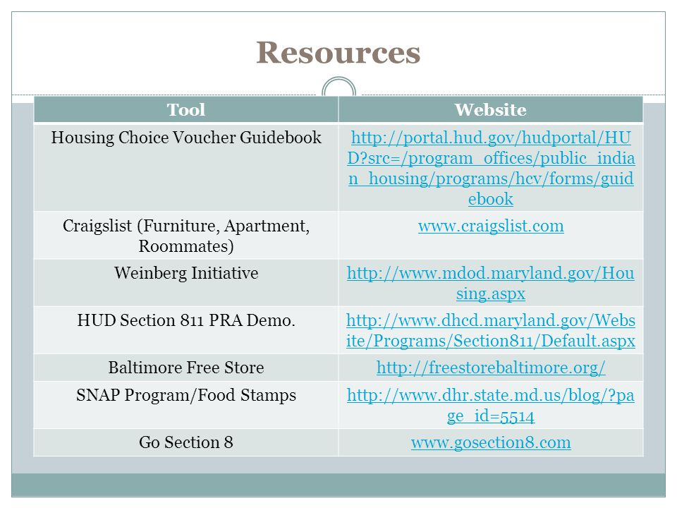 Resources Tool Website Housing Choice Voucher Guidebook