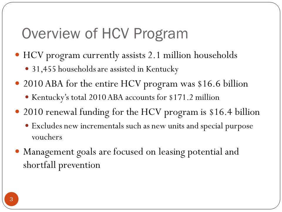 Overview of HCV Program