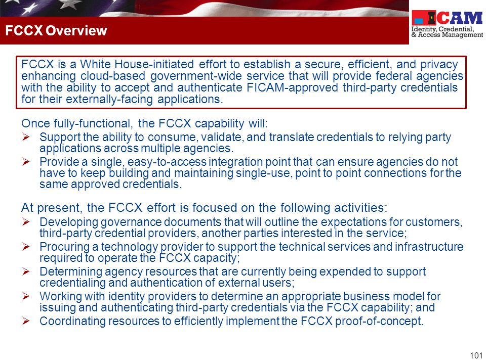 FCCX Overview